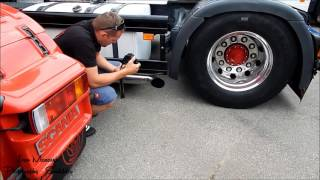 SCANIA 164L 480 V8. Open pipe sound!