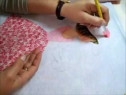 Pintura em tecido - Boneca com vestido de crochê -  Adriana - How to paint fabric