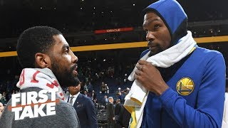 Kyrie will likely follow Kevin Durant to the Nets in free agency - Stephen A. | First Take