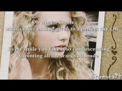 COLD AS YOU [Karaoke-Instrumental] - Taylor Swift.