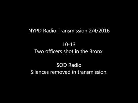 NYPD Radio 2 Officers Shot 2/4/16