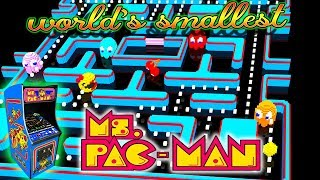 TINY ARCADE Ms PAC MAN WORLD'S SMALLEST ARCADE UNBOXING & REVIEW