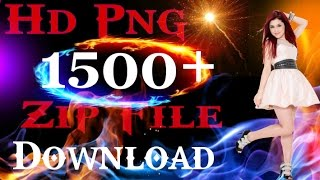 1500+ Png zip File for PicsArt editing By Stylish Rahul
