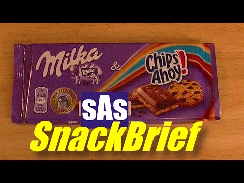 sAs SnackBrief: Milka & Chips Ahoy! Candy Bar Review