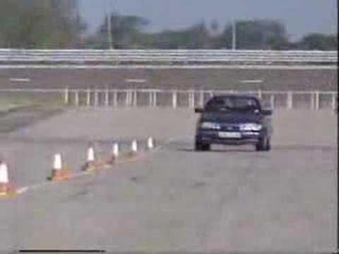 Tiff Needell 1990 cars slalom