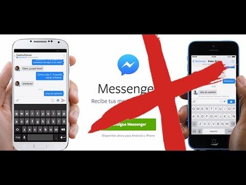 Como seguir viendo los mensajes de Facebook sin instalar Messenger