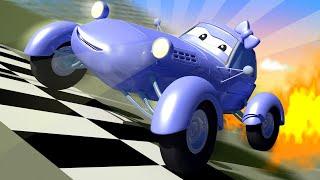 Xe tải kéo cho trẻ em - XE CẢI TIẾN Katie bị cháy bánh xe - Thành phố xe 🚗 phim hoạt hình về xe