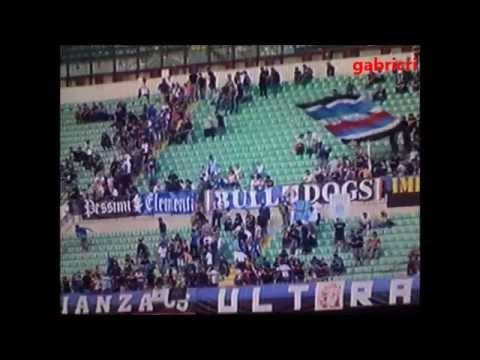 Inter Cagliari 1 4 Tifosi esultanza contro la delusione in curva Interista