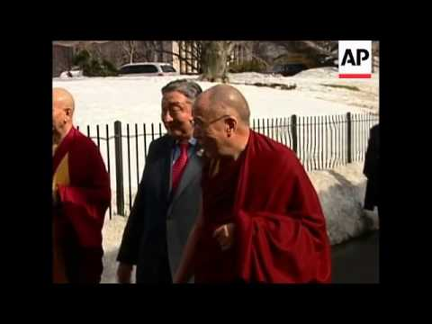 President Barack Obama personally welcomes the Dalai Lama to the White House and laudes his goals fo