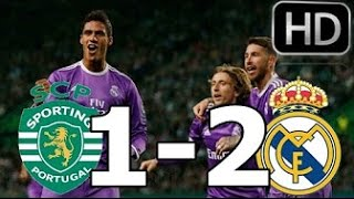 Sporting vs Real Madrid 1-2 All Goals & Highlights