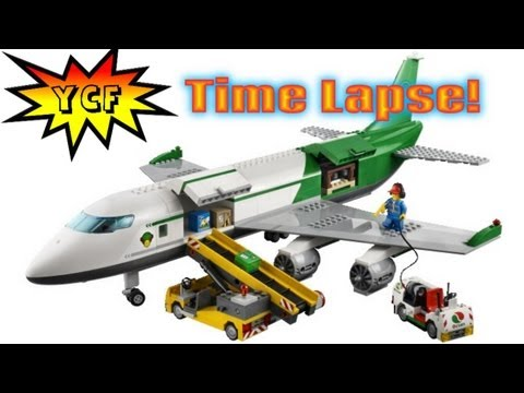 LEGO CITY Cargo Terminal 60022 Time Lapse Speed Build - BIG Airplane!