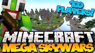 Minecraft: Mega Skywars - 100 PLAYERS! (Hypixel Skywars)