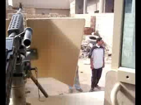 Car Bomb Damage Ramadi Iraq