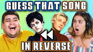 GUESS THAT SONG IN REVERSE CHALLENGE | 90's Songs