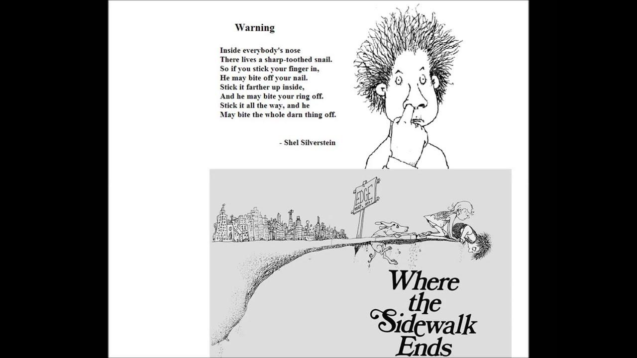 shel silverstein poems where the sidewalk endsWhere The Sidewalk Ends Shel Silverstein