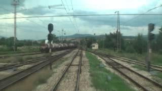 Train cab ride Bulgaria: Sofia - Karlovo [Time-lapse movie]