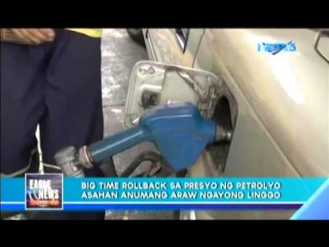 Big time rollback on price of gasoline this week