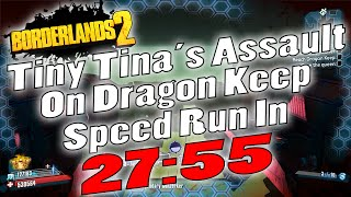 Borderlands 2 | Tiny Tina DLC UVHM Speed Run In 27:55