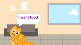 A hungry cat animation