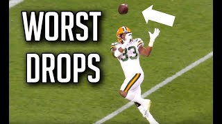 NFL Worst Dropped Passes of The 2019-2020 Season || HD