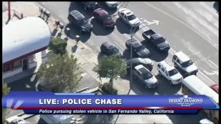 SHOCKING END: Police Chase in San Fernando Valley, CA - FNN