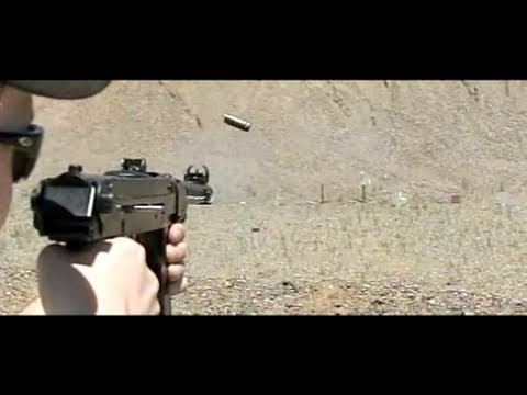Polish PPS43 shooting steel - 600 frames/sec slow motion 7.62x25