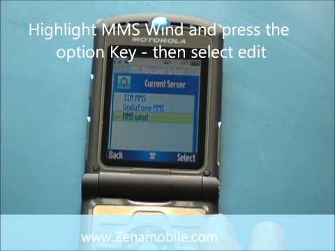 How To Program Unlocked Razr v3 For MMS And Data Settings On T-Mobile