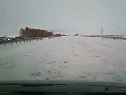 How to clean the snow on the road in Kazakhstan