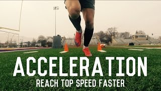 Acceleration Training For Footballers/Soccer Players   Reach Top Speed Faster   Individual Drills