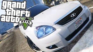GTA 5 Моды: Лада Приора - Отечественный автопром!   GTA 5 Mods: Lada Priora