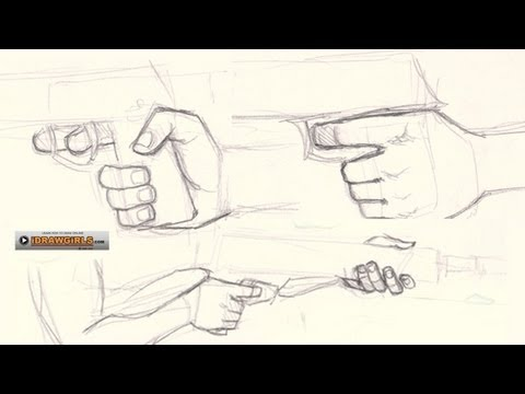 Guys Holding Hands Drawing How to Draw Hand Holding Gun
