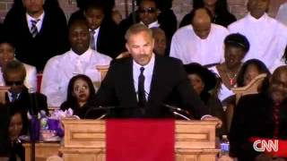 Wow Kevin Costner At Whitney Houston Funeral Gives Emotional Speech The Bodyguard