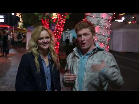 Snowing Mistletoe Kissing Prank video