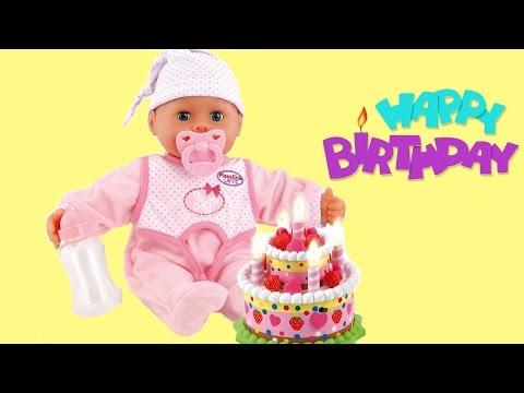 Bayer Design Laugh & Cry Baby Doll Birthday Set Happy Birthday Songs