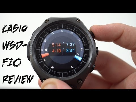Casio WSD-F10 Android Wear Watch Official Full Review