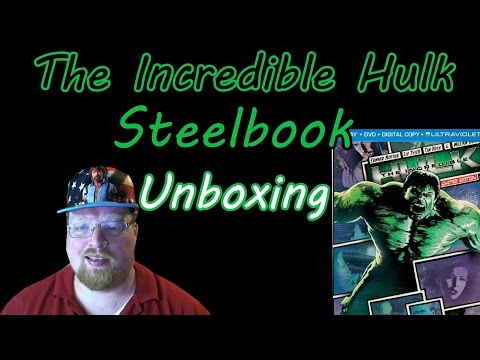 The Incredible Hulk Steelbook Blu-Ray Unboxing (Giveaway Ended)