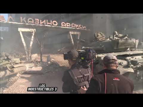 Detrás de cámaras Los Indestructibles 3