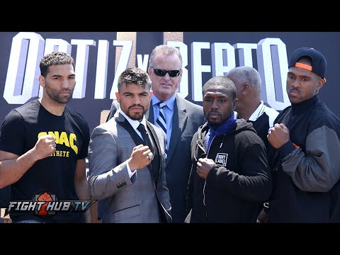 Victor Ortiz vs. Andre Berto 2 Complete Final Press Conference and Face Off video