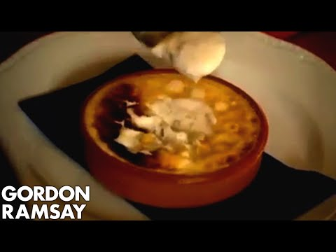 Gordon Eats Overcooked Scallops and Liquid Creme Brulee - Gordon Ramsay