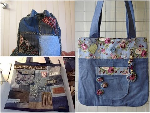 Как сшить сумку из старых джинс