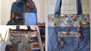 DIY Fashion Jeans Bag Ideas! Recycled Denim Craft Ideas!