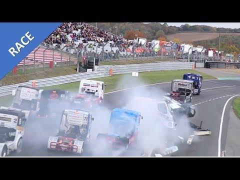 ORIGINAL Huge Truck Crash Brands Hatch 06 Nov 2016 (IN CAB) - BRTC Truck Final race 2