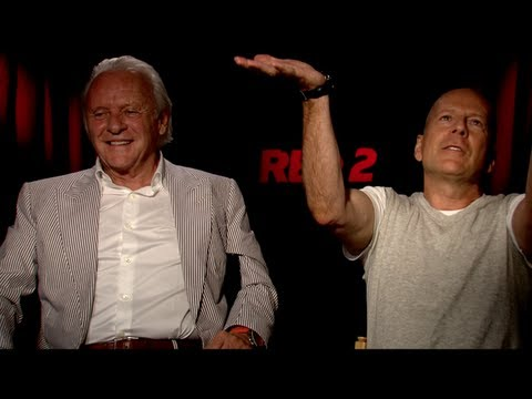 RED 2 Interviews: Bruce Willis, Anthony Hopkins and Helen Mirren