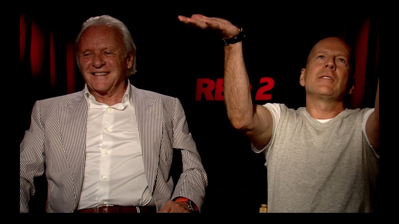 red 2 interviews bruce willis anthony hopkins and helen