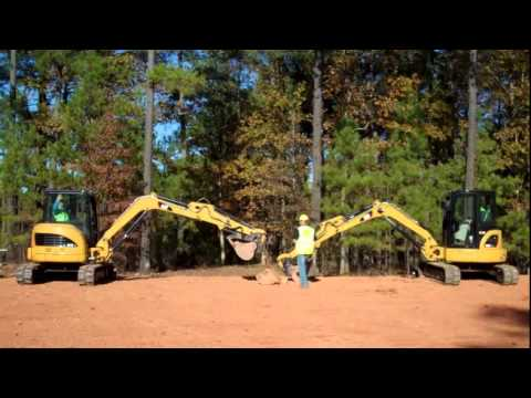 Cat® D Series Mini Excavator Stability Demonstration