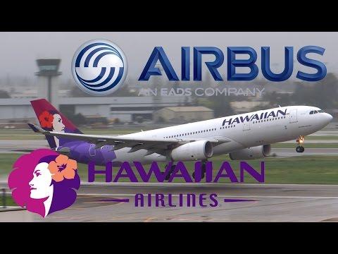 HD RARE Hawaiian Airlines Airbus A330-243 N399HA Takeoff from San Jose International Airport
