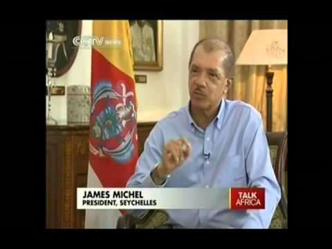 Seychelles President James Michel on Talk Africa CCTV , 21 December 2013
