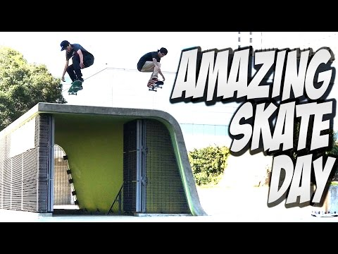 PETER VILLALBA BOARD SET UP & AWESOME SKATE DAY Feat. JOHN BRADFORD !!! - A DAY WITH NKA -