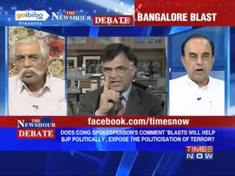Dr Subramanian Swamy in Times Now  Debate - Why should a terror attack be politicized?