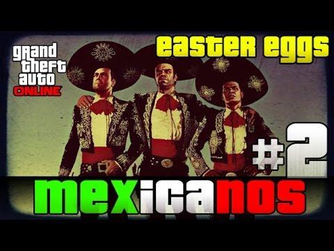GTA V Online - Easter Eggs de Mexico y Latinos #2 | Subs easter eggs